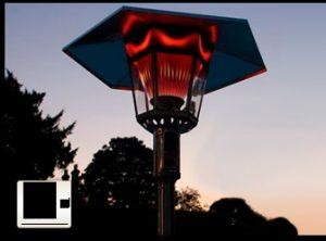 mushroom street lamp heater