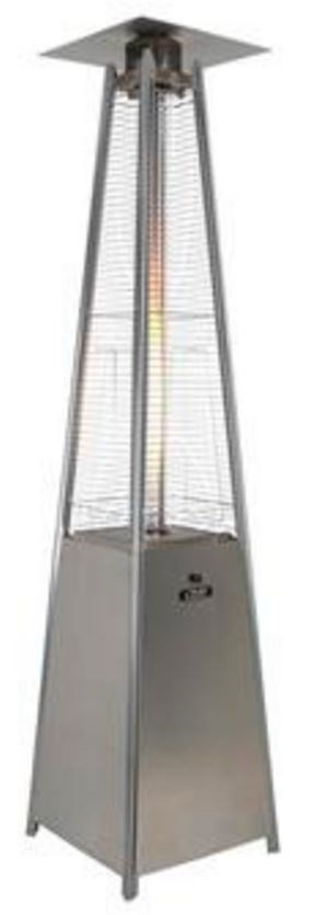 Stainless pyramid outdoor heater rental & sale