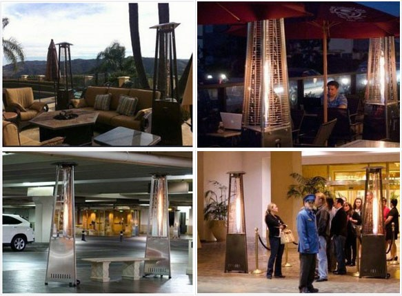 Pyramid, mushroom outdoor patio heater rental-Dubai, Abu Dhabi & all UAE