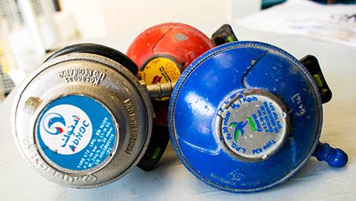 3 LPG gas regulators used in UAE